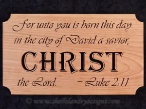 Luke 2:11 Scroll Saw Christ Pattern
