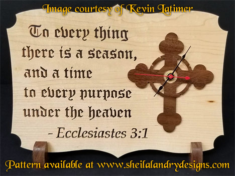 Scroll Saw Christian Clock Pattern