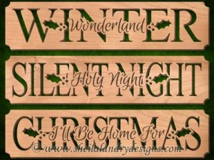 Scroll Saw Christmas Carol Pattern Set