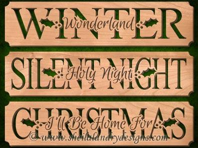 Scroll Saw Christmas Carol Pattern Set