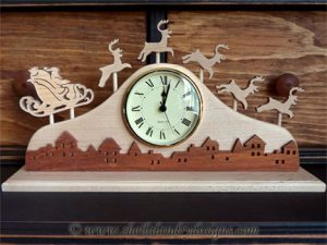 Scroll Saw Christmas Clock Pattern
