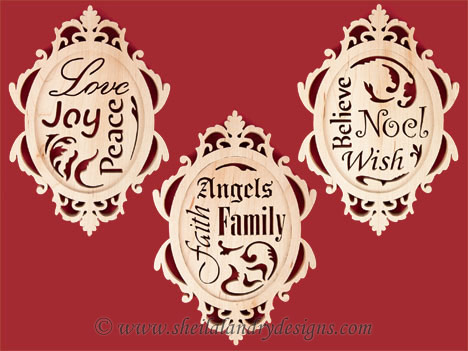 Scroll Saw Christmas Plaques Pattern