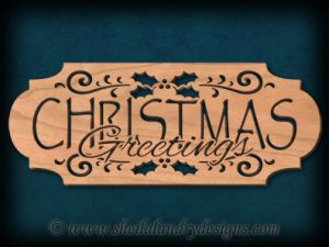 Scroll Saw Christmas Greetings Pattern