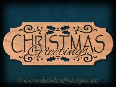 Scroll Saw Christmas Greetings Pattern