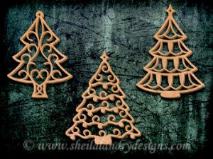 Scroll Saw Christmas Tree Ornaments Pattern
