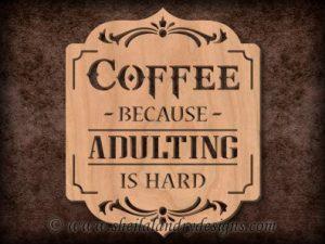 Scroll Saw Coffee Pattern