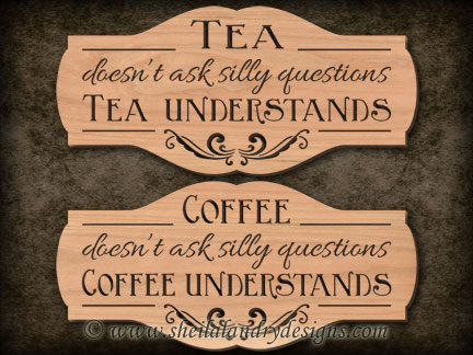 Scroll Saw Coffee Tea Pattern