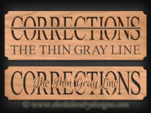 Scroll Saw Corrections Pattern