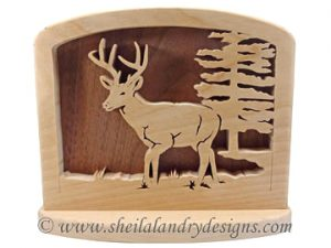 Scroll Saw Deer Napkin Holder Pattern