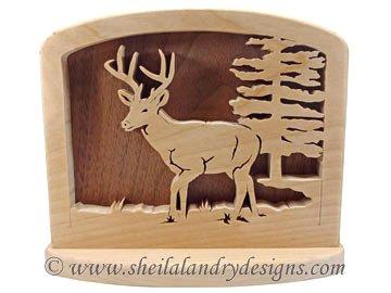 Scroll Saw Deer Napkin Holder Pattern