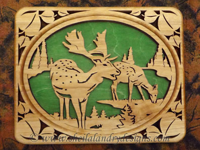 Scroll Saw Roe Deer Pattern