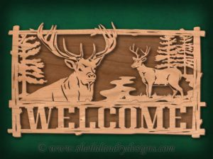 Scroll Saw Deer Welcome Pattern