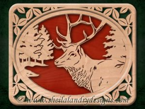 Scroll Saw Elk Pattern