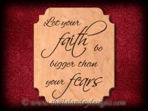 Scroll Saw Faith & Fears Pattern