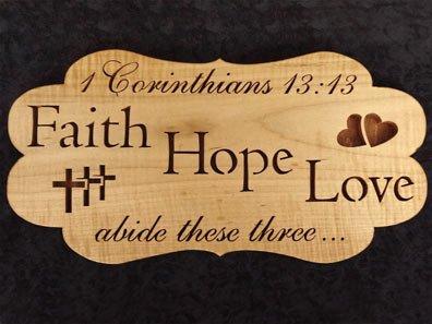 Scroll Saw Faith Hope Love Pattern