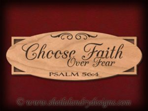 Scroll Saw Faith Pattern