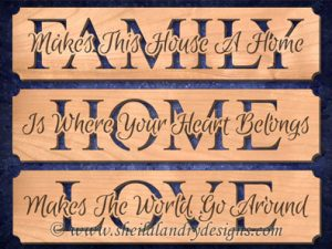Scroll Saw Family Home Love Patterns