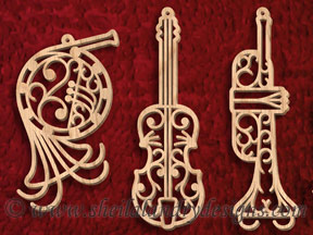 Scroll Saw Musical Ornaments Pattern