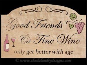Scroll Saw Fine Wine Pattern