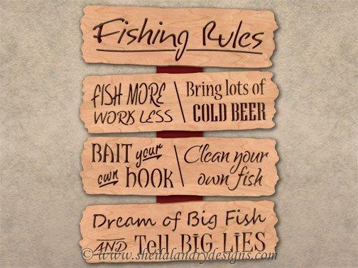 Scroll Saw Fishing Pattern