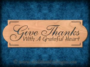 Scroll Saw Give Thanks Pattern