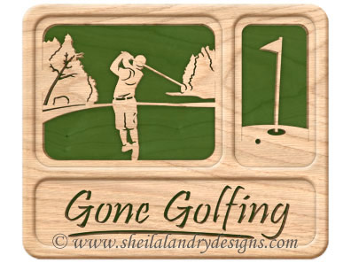 Scroll Saw Golfing Pattern
