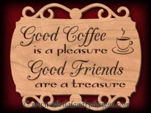Scroll Saw Good Coffee Pattern