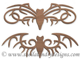 Gothic Bats Scroll Saw Ornaments