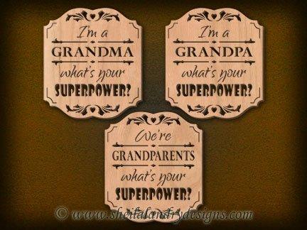 Scroll Saw Grandma Grandpa Superpower Pattern