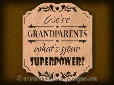 Scroll Saw Grandparents Superpower Pattern