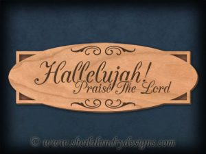 Scroll Saw Hallelujah Pattern
