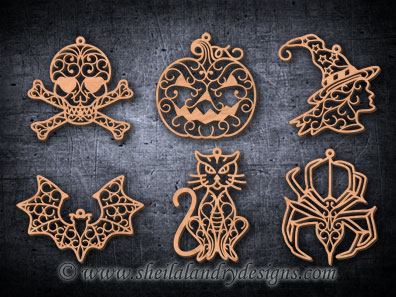 Scroll Saw Halloween Ornaments Pattern