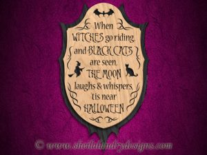 Scroll Saw Halloween Poem Pattern
