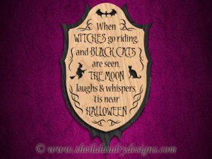 Scroll Saw Halloween Poem Pattern