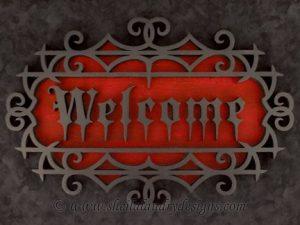 Scroll Saw Halloween Welcome Pattern