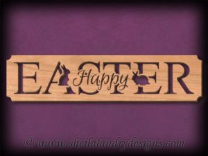 Happy Easter Scroll Saw Pattern