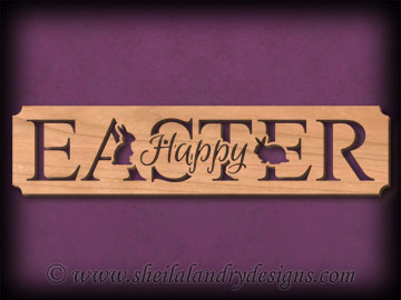 Happy Easter Scroll Saw Pattern