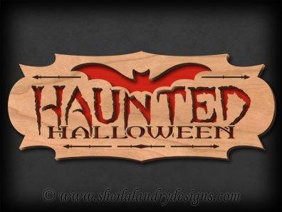 Scroll Saw Haunted Halloween Pattern