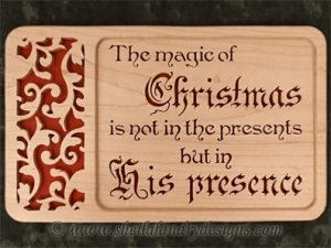 Scroll Saw His Presence Christmas Pattern