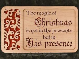 Scroll Saw His Presence Christmas Pattern