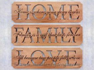 Scroll Saw Home Family Love Pattern