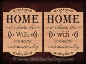 Scroll Saw Home WiFi Pattern