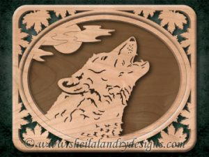 Scroll Saw Howling Wolf Pattern