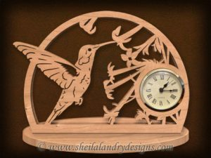 Scroll Saw Hummingbird Clock Pattern