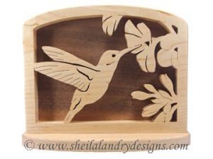 Scroll Saw Hummingbird Napkin Holder Pattern