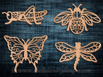 Scroll Saw Insect Pattern