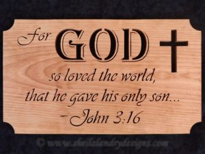 Scroll Saw John 3:16 Pattern