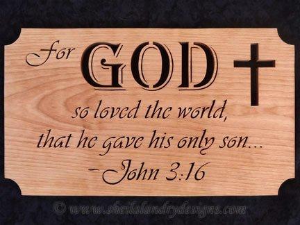 Scroll Saw John 3:16 Pattern
