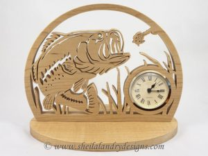 Scroll Saw Largemouth Bass Clock