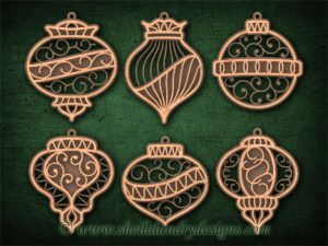 Scroll Saw Layered Ornaments Pattern